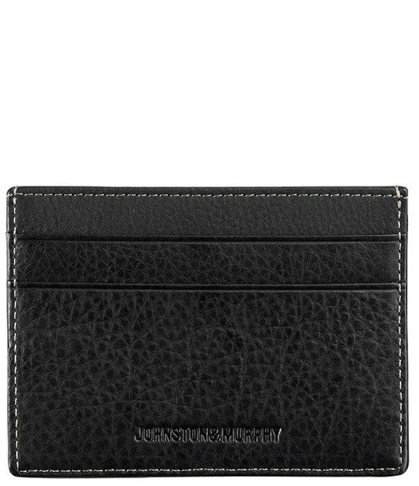 ジョンストンアンドマーフィー メンズ 財布 アクセサリー Men's Leather Weekender Case Black