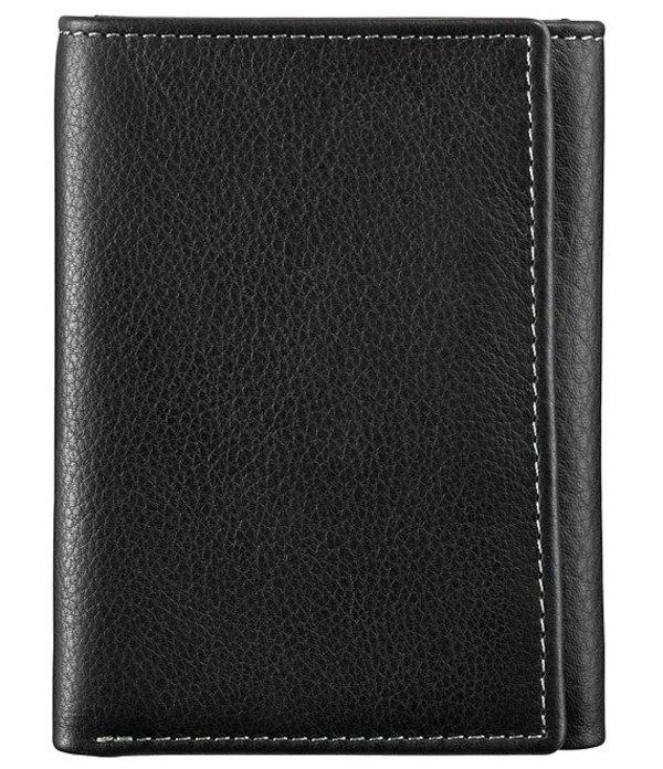 ジョンストンアンドマーフィー メンズ 財布 アクセサリー Men's Leather Trifold Wallet Black