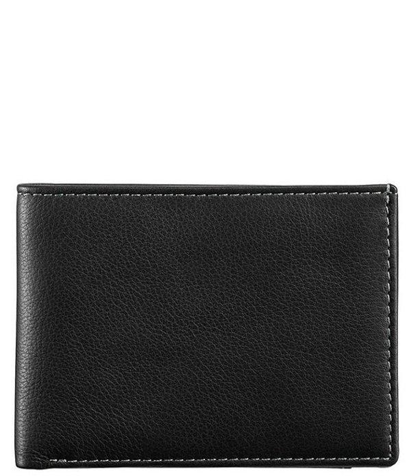 ジョンストンアンドマーフィー メンズ 財布 アクセサリー Men's Leather Super Slim Wallet Black