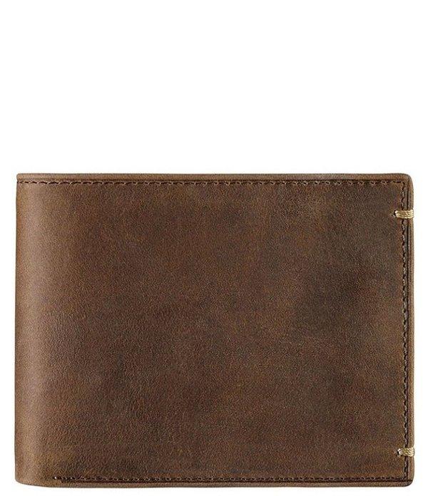 ジョンストンアンドマーフィー メンズ 財布 アクセサリー Men's Leather Flip Bifold Wallet Tan Oiled