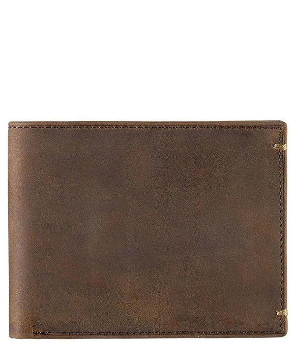 ジョンストンアンドマーフィー メンズ 財布 アクセサリー Men's Leather Slimfold Wallet Tan Oiled