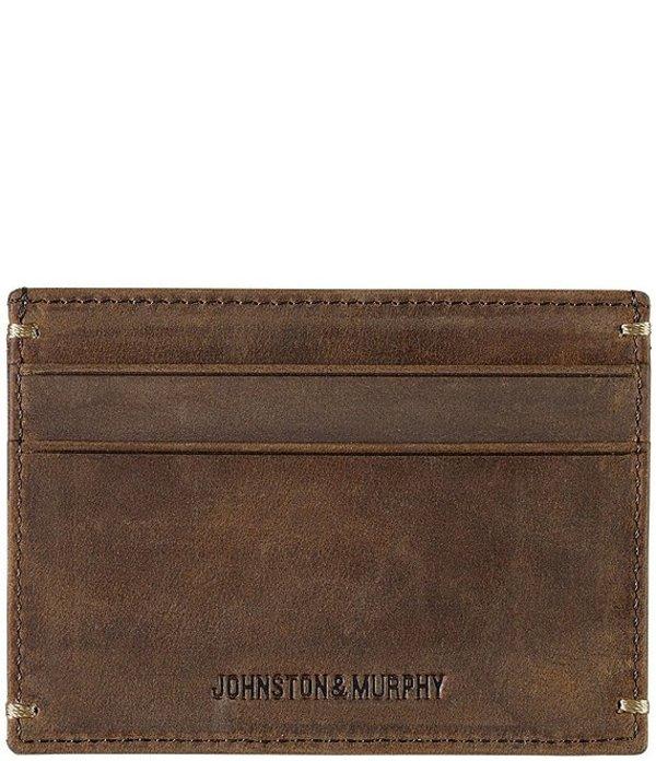 ジョンストンアンドマーフィー メンズ 財布 アクセサリー Men's Leather Weekender Case Tan Oiled