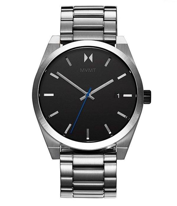 エムブイエムティー メンズ 腕時計 アクセサリー Element Ion Silver Stainless Steel Bracelet Watch Silver