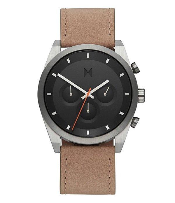 エムブイエムティー メンズ 腕時計 アクセサリー Element Chrono Graphite Sand Leather Watch Sand Stone