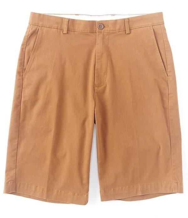 ラウンドトゥリーアンドヨーク メンズ ハーフパンツ・ショーツ ボトムス Flat Front 11#double; Inseam Washed Cotton Shorts Dark Khaki