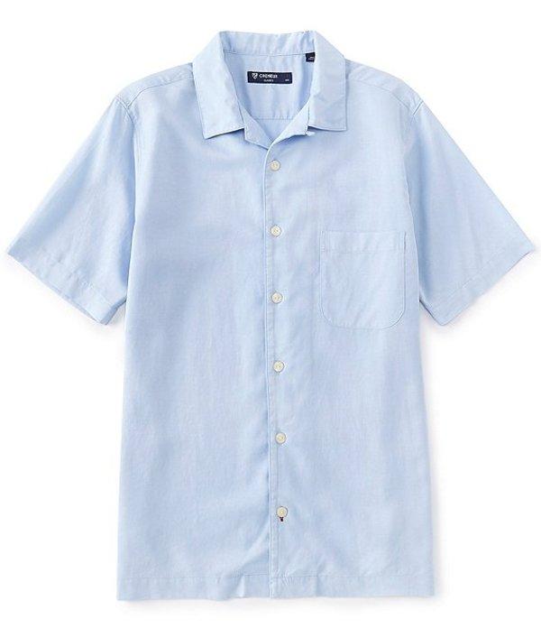 ダニエル クレミュ メンズ シャツ トップス Solid Short-Sleeve Woven Camp Shirt Light Periwinkle