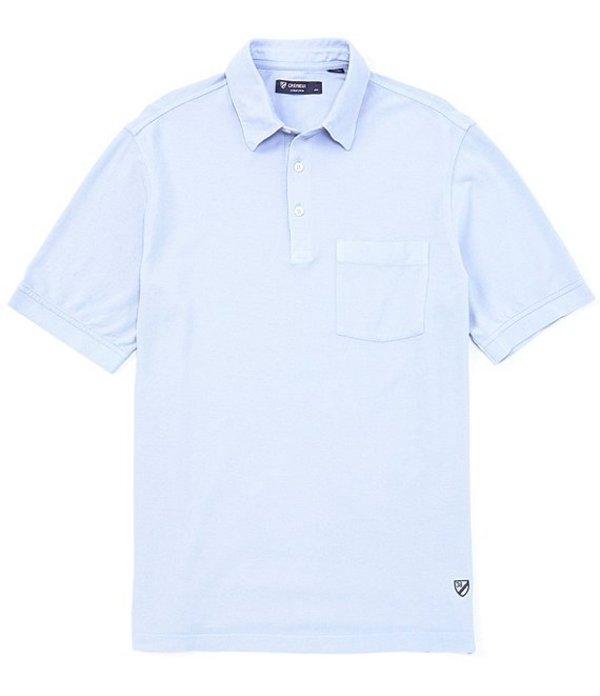 ダニエル クレミュ メンズ シャツ トップス Solid Garment-Dyed Short-Sleeve Polo Shirt Light Periwinkle