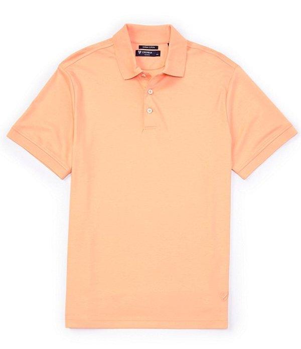 ダニエル クレミュ メンズ シャツ トップス Solid Short-Sleeve Polo Shirt Peach