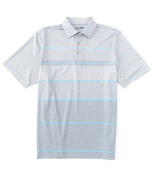 ラウンドトゥリーアンドヨーク メンズ シャツ トップス Performance Big & Tall Short-Sleeve Striped Polo Flagstone