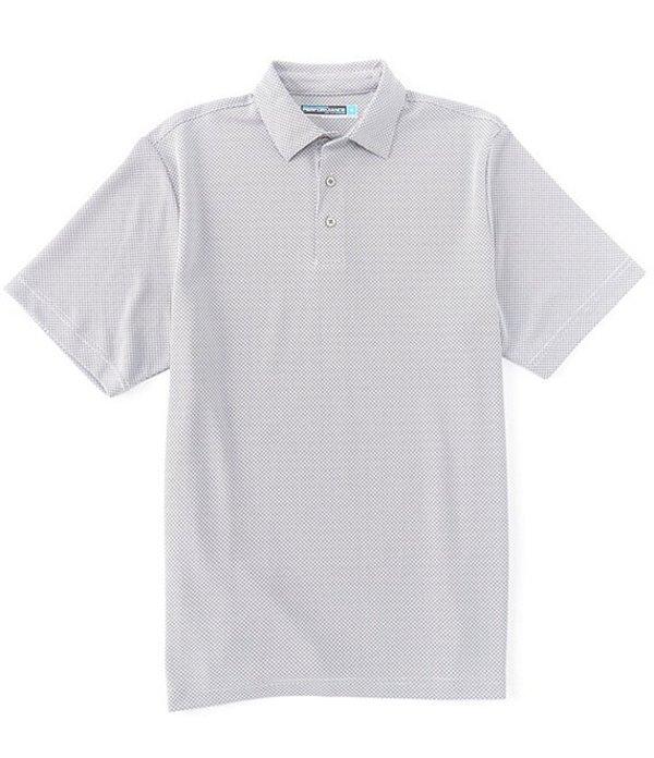 ラウンドトゥリーアンドヨーク メンズ シャツ トップス Performance Big & Tall Short-Sleeve Jacquard Polo Bright White