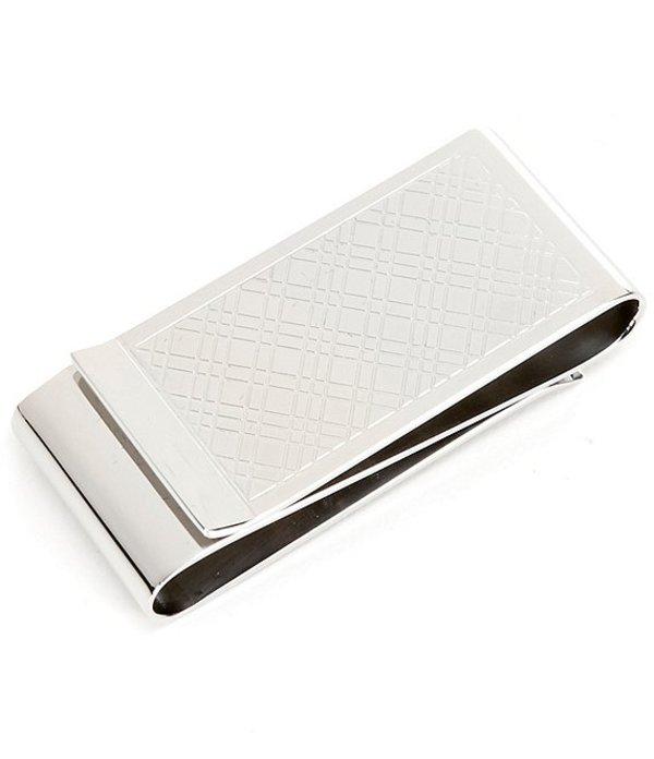 ムラノ メンズ 財布 アクセサリー Double Fold Plaid Money Clip Silver