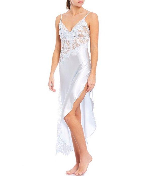 インブルーム レディース ハーフパンツ・ショーツ ボトムス Jonquil Elena Satin & Lace Long Gown Blue