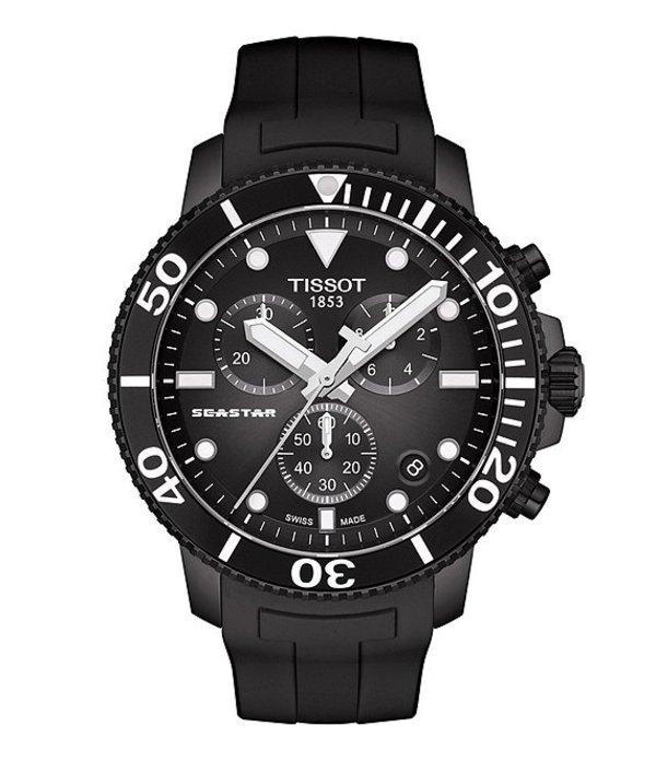 ティソット メンズ 腕時計 アクセサリー Seastar 1000 Chronograph Watch Black