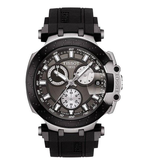 ティソット メンズ 腕時計 アクセサリー T- Race Chronograph Watch Black
