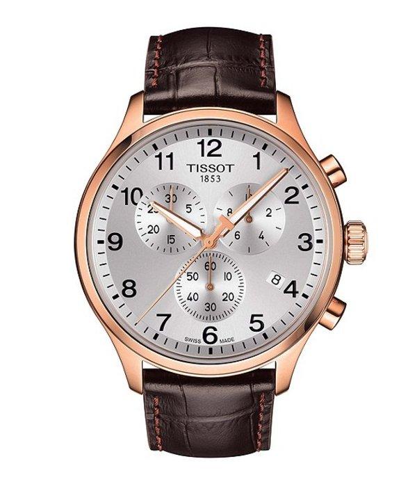 ティソット メンズ 腕時計 アクセサリー Chrono XL Classic Watch Brown