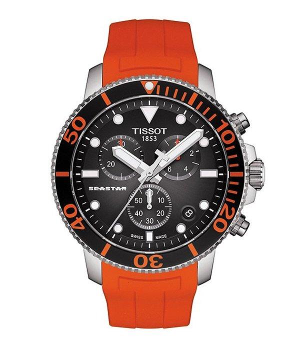 ティソット メンズ 腕時計 アクセサリー Seastar 1000 Chronograph Watch Orange