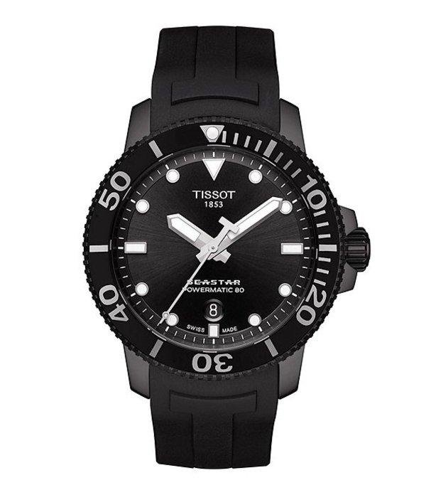 ティソット メンズ 腕時計 アクセサリー Seastar 1000 Powermatic Black
