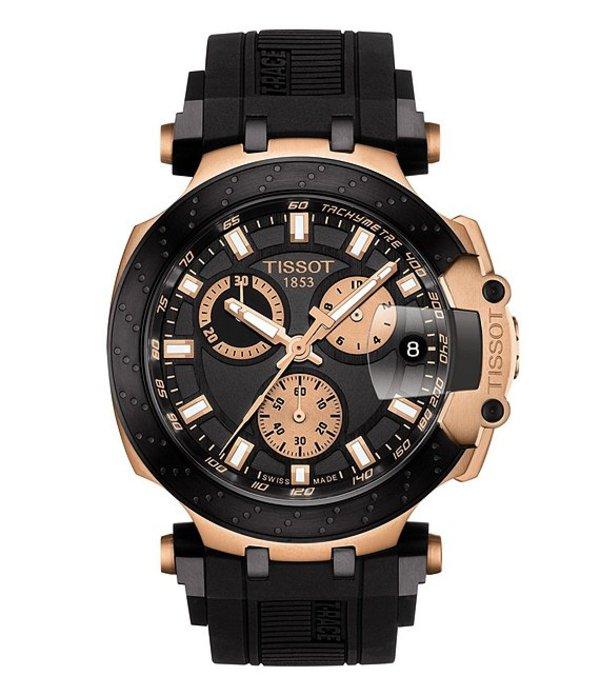 ティソット メンズ 腕時計 アクセサリー T-race Chronograph Watch Black