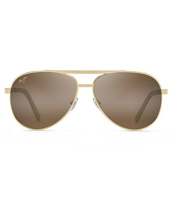 マウイジム メンズ サングラス・アイウェア アクセサリー Seacliff PolarizedPlus2R Aviator 54mm Sunglasses Gold