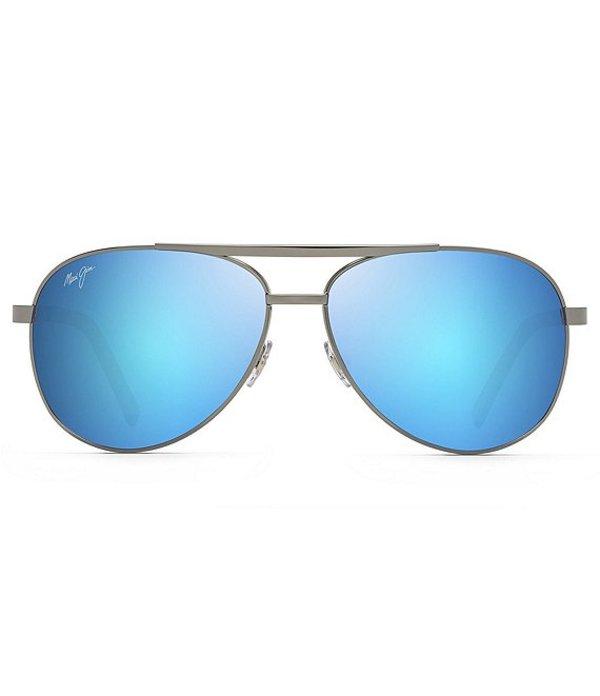 マウイジム メンズ サングラス・アイウェア アクセサリー Seacliff PolarizedPlus2R Aviator 54mm Sunglasses Gunmetal