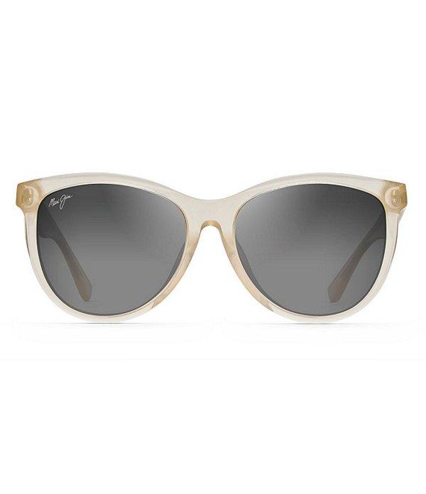 マウイジム レディース サングラス・アイウェア アクセサリー Glory Glory PolarizedPlus2R Cat Eye 56mm Sunglasses Milky Almond