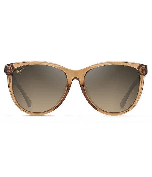 マウイジム レディース サングラス・アイウェア アクセサリー Glory Glory PolarizedPlus2R Cat Eye 56mm Sunglasses Transparent Cinnamon