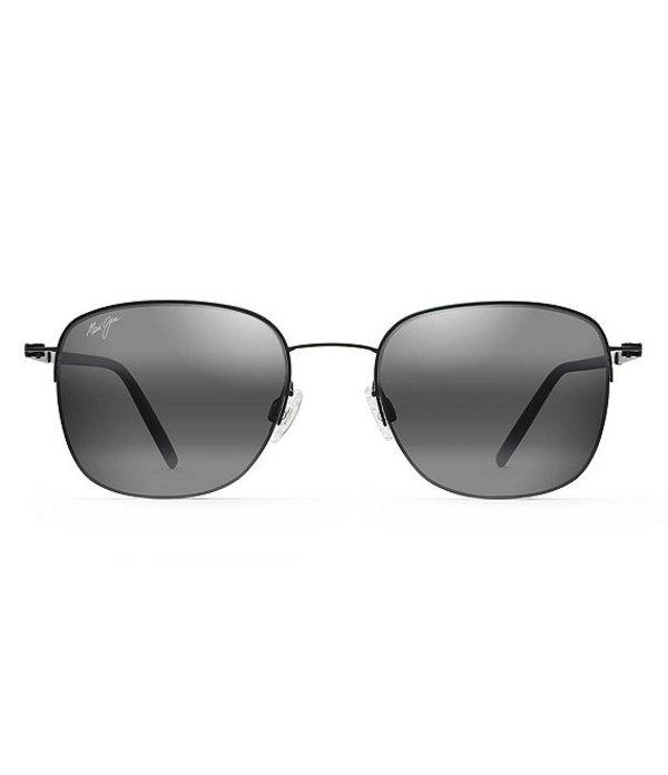 マウイジム メンズ サングラス・アイウェア アクセサリー Crater Rim PolarizedPlus2R Square 52mm Sunglasses Matte Black