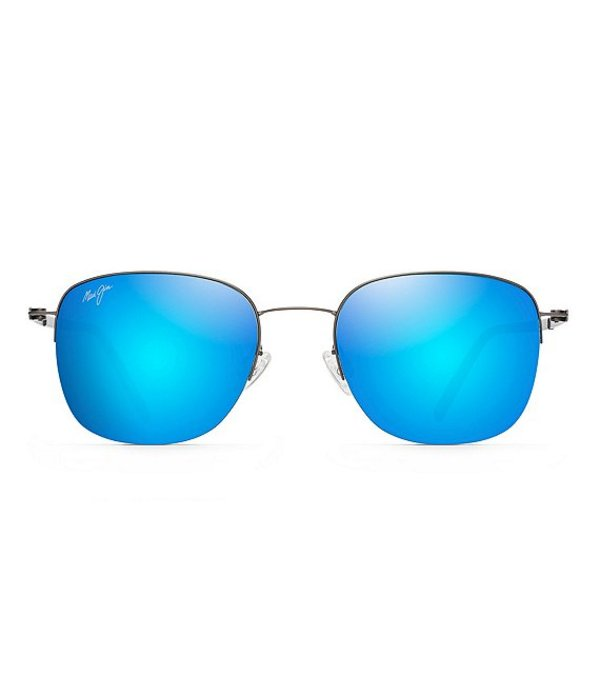 マウイジム メンズ サングラス・アイウェア アクセサリー Crater Rim PolarizedPlus2R Square 52mm Sunglasses Satin Dark Gunmetal