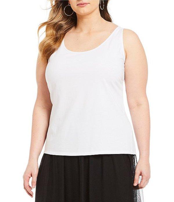 ヴィンスカムート レディース タンクトップ トップス Plus Size Sleeveless Knit Tank Ultra White