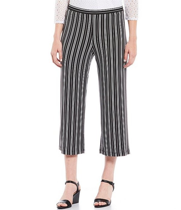 ルビーアールディー レディース カジュアルパンツ ボトムス Petite Size Pull-On Belted Tribe Vibe Striped Pants Black/Stripe