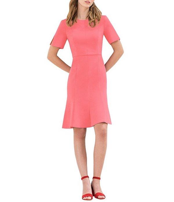 ドナモーガン レディース ワンピース トップス Short Sleeve Crepe Fit-and-Flare Dress Terracotta