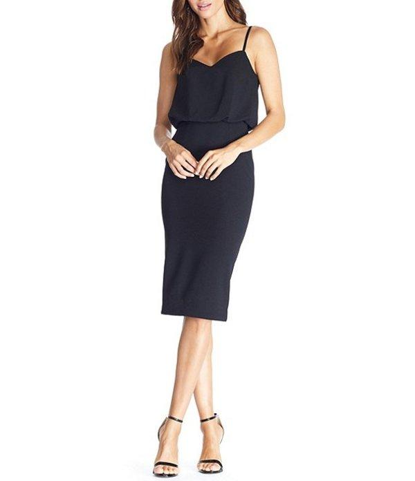ドレスザポプレーション レディース ワンピース トップス Alondra V-Neck Sleeveless Blouson Midi Dress Black