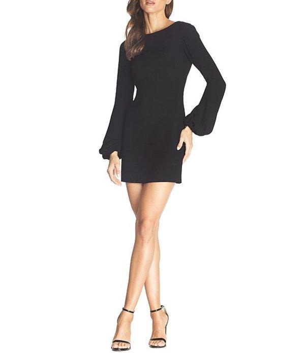 ドレスザポプレーション レディース ワンピース トップス Mackenzie Long Sleeve Plunge Back Mini Sheath Dress Black