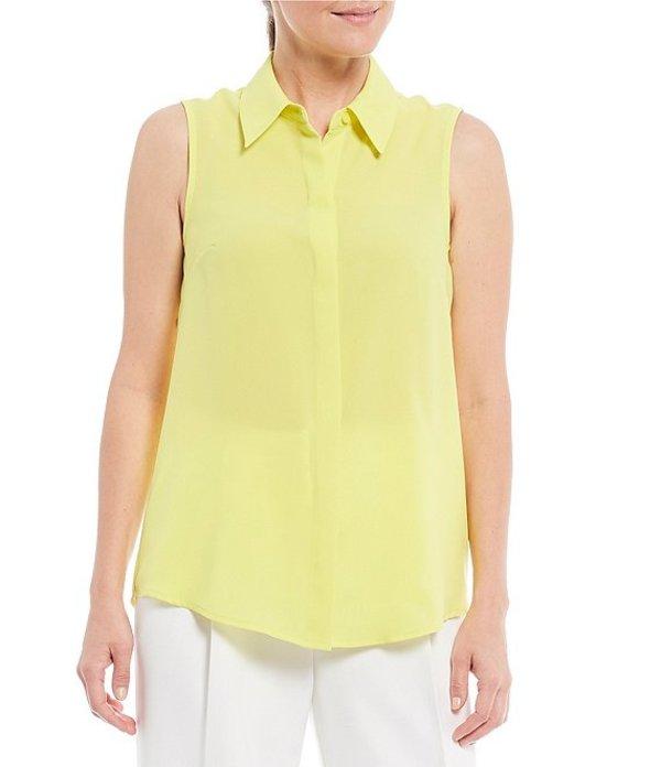 アレックスマリー レディース シャツ トップス Jane Button Front Point Collar Sleeveless Blouse Margarita