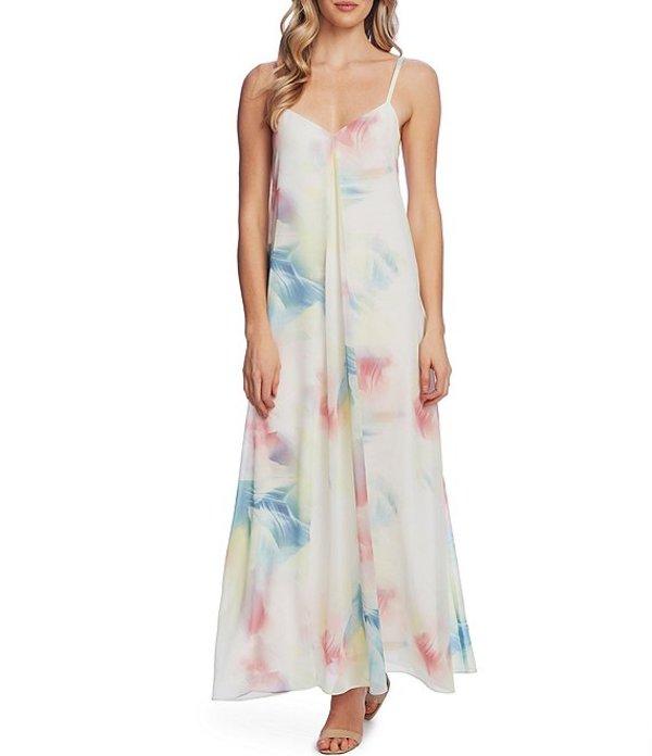 ヴィンスカムート レディース ワンピース トップス Sleeveless Watercolor Print Maxi Dress Fresh Pink
