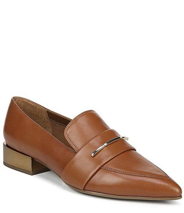 フランコサルト レディース スリッポン・ローファー シューズ Wynne Leather Block Heel Dress Loafers Cognac