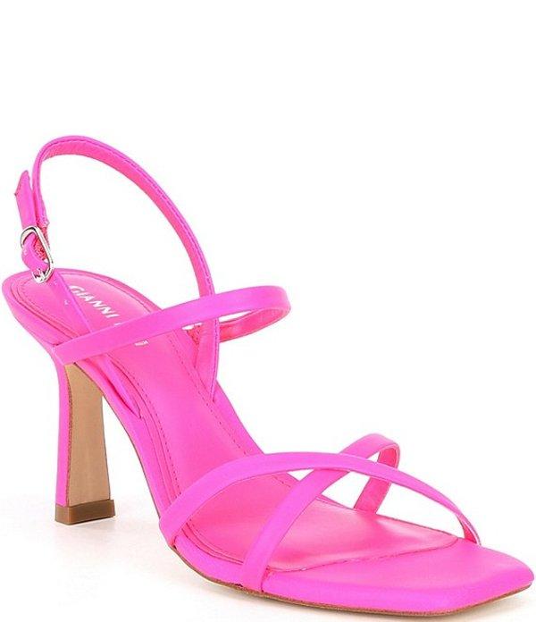 ジャンビニ レディース サンダル シューズ Neveena Leather Square Toe Dress Sandals Poppy Pink