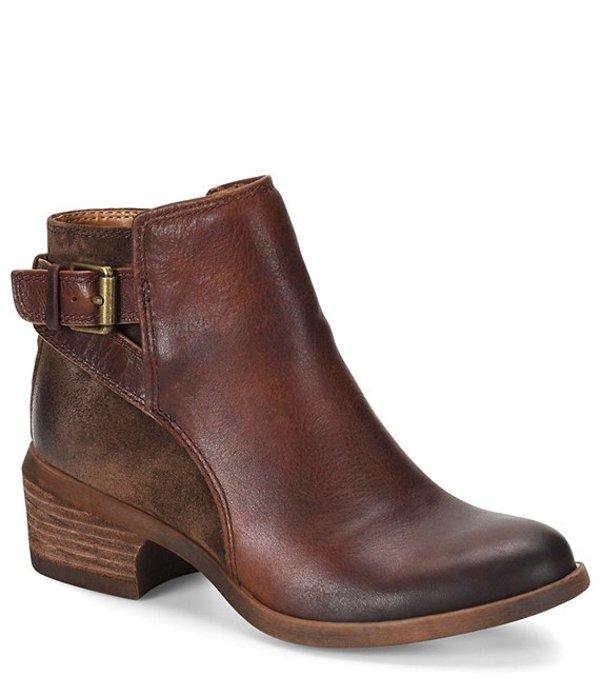 コンフォーティバ レディース ブーツ・レインブーツ シューズ Creston Leather Western-Inspired Block Heel Bootie Brown