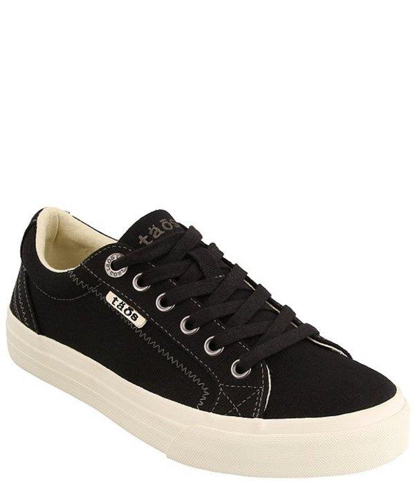 タオスフットウェア レディース スニーカー シューズ Plim Soul Canvas Platform Sneakers Black