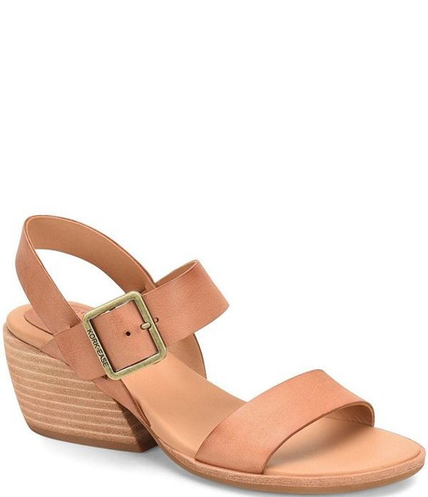 コークイーズ レディース サンダル シューズ Speke Leather Cut Out Wedge Sandals Light Tan Nocino
