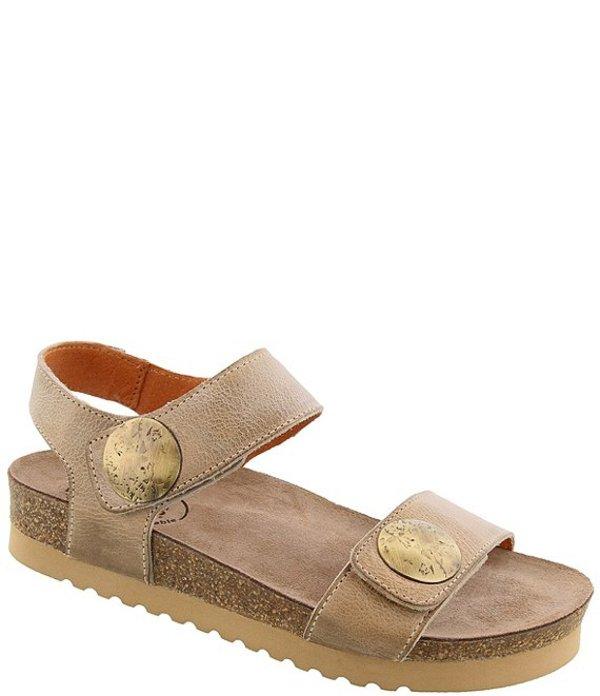 タオスフットウェア レディース サンダル シューズ Luckie Banded Leather Medallion Detail Sandals Taupe