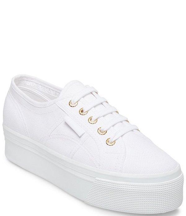 スペルガ レディース スニーカー シューズ 2790 ACOTW Flatform Sneakers White/Gold