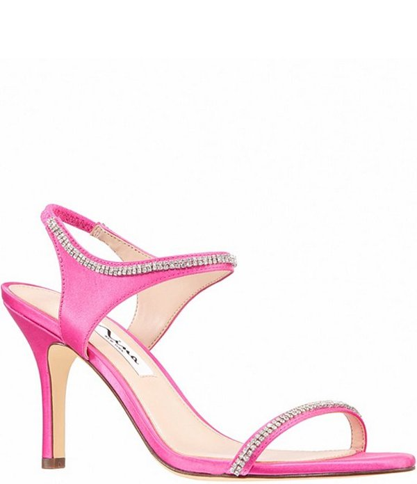ニナ レディース サンダル シューズ Vanda Embellished Satin Dress Sandals Ultra Pink