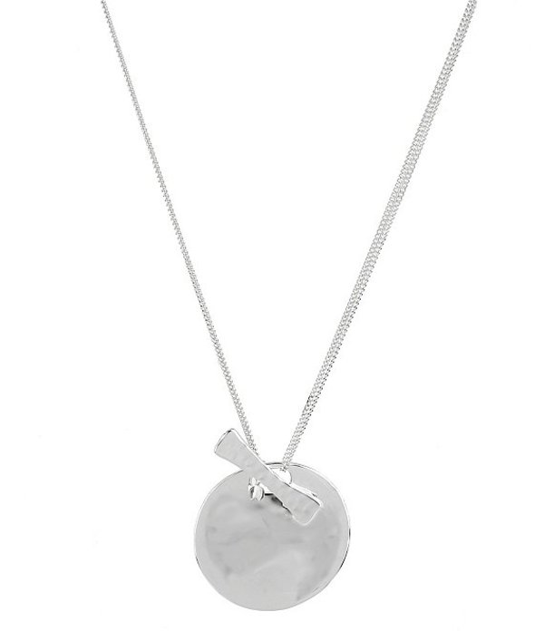 ロバート リー モーリス レディース ネックレス・チョーカー・ペンダントトップ アクセサリー Sculptural Circle Pendant Necklace Silver