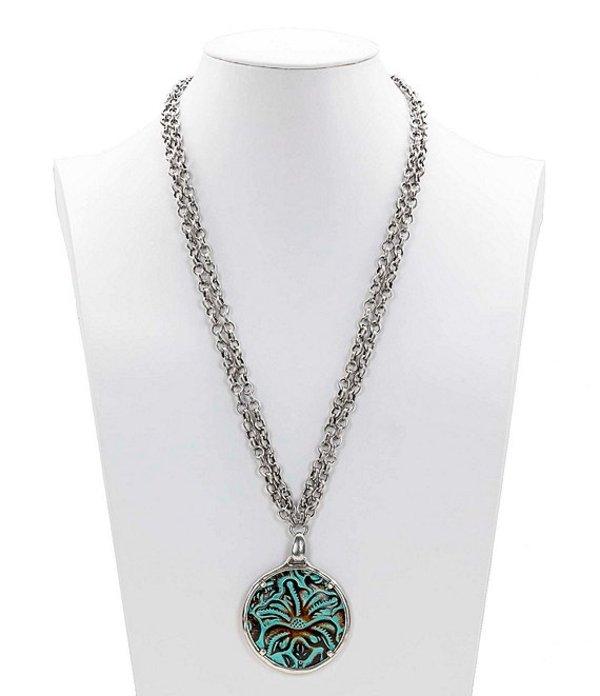 パトリシアナシュ レディース ネックレス・チョーカー・ペンダントトップ アクセサリー The Leather Pendant Necklace Turquoise