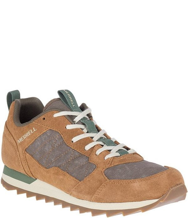 メレル メンズ ドレスシューズ シューズ Men's Alpine Leather & Nylon Lace-Up Sneaker Tobacco