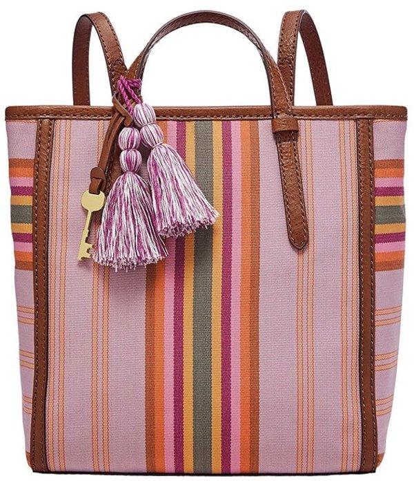 フォッシル レディース バックパック・リュックサック バッグ Camilla Stripe Small Backpack Ribbon Stripe