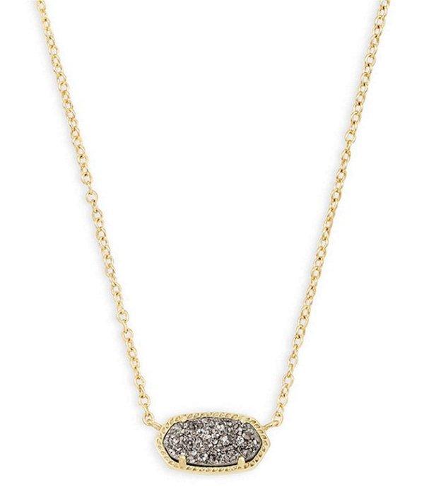 ケンドラスコット レディース ネックレス・チョーカー・ペンダントトップ アクセサリー Elisa Gold Pendant Necklace Platinum Drusy