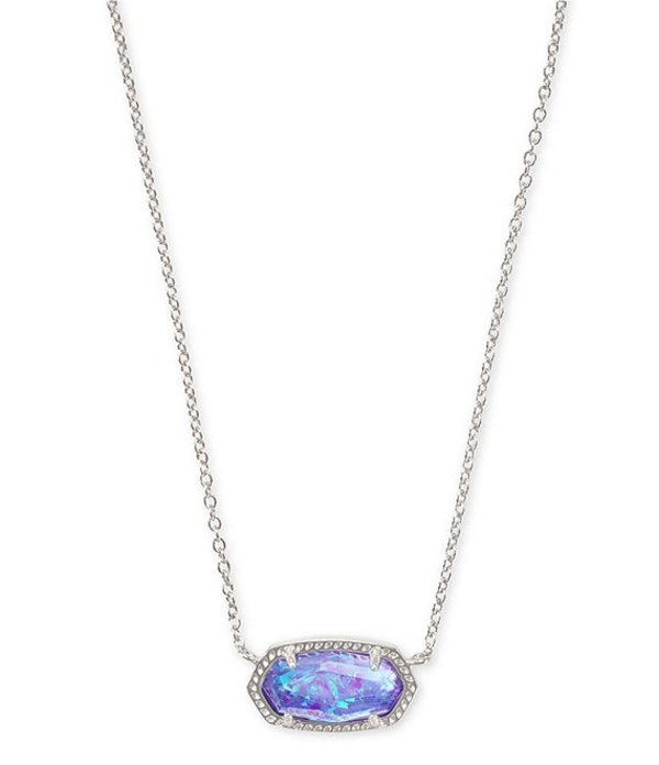 ケンドラスコット レディース ネックレス・チョーカー・ペンダントトップ アクセサリー Elisa Silver Pendant Necklace Iridescent Lilac Illusion