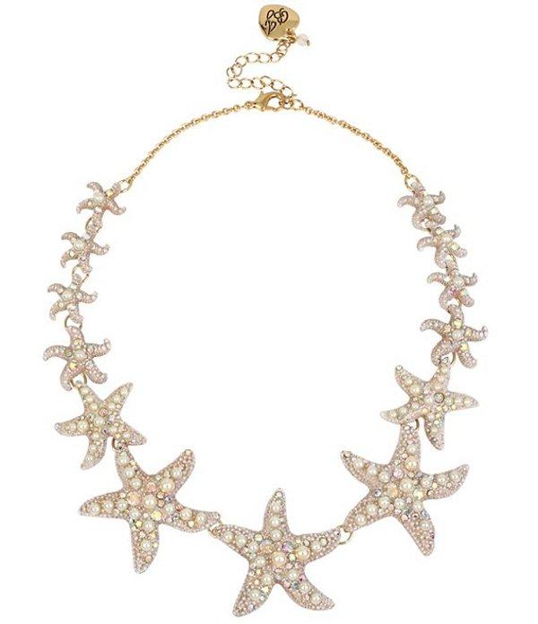 ベッツィジョンソン レディース ネックレス・チョーカー アクセサリー Starfish Collar Necklace Pearl